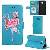 Flamingo PU kožené puzdro na mobil Samsung Galaxy A5 (2017) - modré
