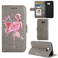 Flamingo PU kožené puzdro na mobil Samsung Galaxy A5 (2017) - sivé