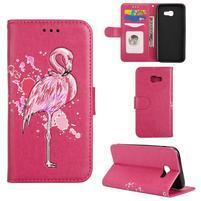 Flamingo PU kožené puzdro na mobil Samsung Galaxy A5 (2017) - rose