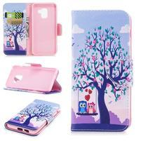 Emotive PU kožené zapínacie puzdro na Samsung Galaxy A8 (2018) - láska pod stromom