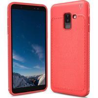 IVS odolný gélový obal na Samsung Galaxy A6+ (2018) - červený