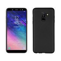 Carbon silikónový obal na Samsung Galaxy A6 Plus - čierny