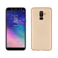 Carbon silikónový obal na Samsung Galaxy A6 Plus - zlatý