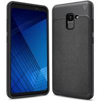IVS odolný gélový obal s texturovaným chrbtom na Samsung Galaxy A7 (2018) - antracitový