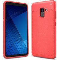 IVS odolný gélový obal s texturovaným chrbtom na Samsung Galaxy A7 (2018) - červený