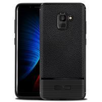 ProtectTexture gélový obal na Samsung Galaxy A8 Plus (2018) - čierny