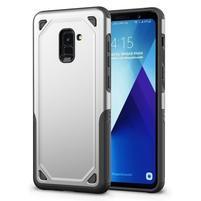Rougy hybridný odolný obal na Samsung Galaxy A8 Plus (2018) - strieborný