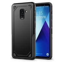 Rougy hybridný odolný obal na Samsung Galaxy A8 Plus (2018) - čierny