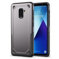 Rougy hybridný odolný obal na Samsung Galaxy A8 Plus (2018) - šedý