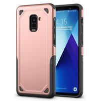 Rougy hybridný odolný obal na Samsung Galaxy A8 Plus (2018) - rosegold