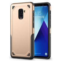 Rougy hybridný odolný obal na Samsung Galaxy A8 Plus (2018) - zlatý
