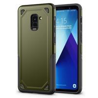 Rougy hybridný odolný obal na Samsung Galaxy A8 Plus (2018) - zelený