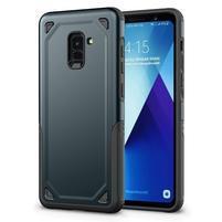 Rougy hybridný odolný obal na Samsung Galaxy A8 Plus (2018) - tmavomodrý