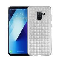 Carb gélový obal na Samsung Galaxy A8 Plus (2018) - strieborný