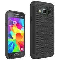 Footy odolný obal na Samsung Galaxy J3 (2016) - čierny
