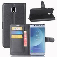 Grain knížkové puzdro pre mobil Samsung Galaxy J3 (2017) - čierné