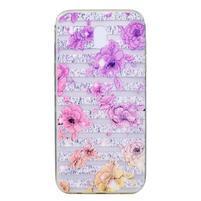 Slimy gélový obal s motívom na Samsung Galaxy J3 (2017) - kvety