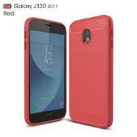 Carbo odolný obal pre mobil Samsung Galaxy J3 (2017) - červený