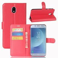 Grain knížkové puzdro pre mobil Samsung Galaxy J3 (2017) - červené