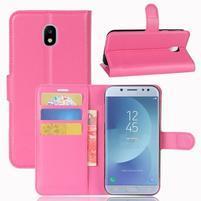 Grain knížkové puzdro pre mobil Samsung Galaxy J3 (2017) - rose