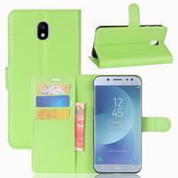Grain knížkové puzdro pre mobil Samsung Galaxy J3 (2017) - zelené