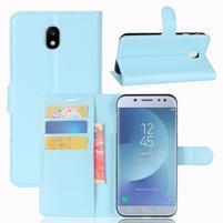 Grain knížkové puzdro pre mobil Samsung Galaxy J3 (2017) - svetlomodré