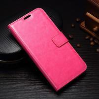 Wallet PU kožené puzdro pre Samsung Galaxy J3 (2017) - rose