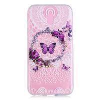 Bossi gélový obal na Samsung Galaxy J3 (2017) - motýlia girlanda