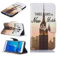Bossi knižkové zapínacie puzdro na Samsung Galaxy J5 (2016) - New York