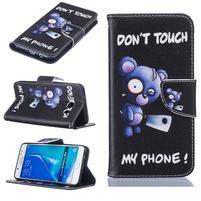 Bossi knižkové zapínacie puzdro na Samsung Galaxy J5 (2016) - Don´t touch