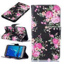 Patty peňaženkové puzdro na Samsung Galaxy J5 (2016) - kvetiny