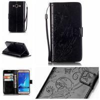 MagicFly PU kožené puzdro pre Samsung Galaxy J5 (2016) - čierne