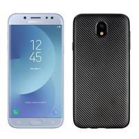 Fiber texturovaný gélový obal na Samsung Galaxy J5 (2017) - čierny