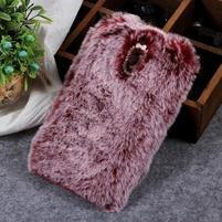 Furry gélový obal na Samsung Galaxy J7 (2018) - vínovo červený