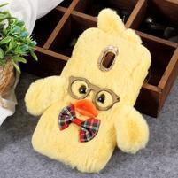 Duck silikónový kryt na Samsung Galaxy J6 - žltý