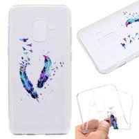 Printy gélový obal na mobil Samsung Galaxy J6 - vtáčiky a pierka