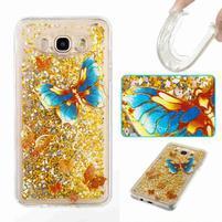 GlittFun presýpací obal na Samsung Galaxy J7 (2016) - motýľ