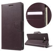 Diary PU kožené puzdro pre mobil Samsung Galaxy J7 (2016) - vínové
