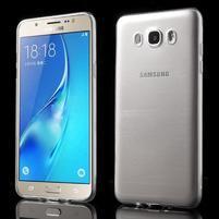 Slim ultratenký gélový obal pre Samsung Galaxy J7 (2016) - transparentný