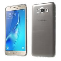 Slim ultratenký gélový obal pre Samsung Galaxy J7 (2016) - šedý