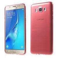 Slim ultratenký gélový obal pre Samsung Galaxy J7 (2016) - červený