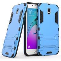 Defender odolný obal so stojanom na Samsung Galaxy J7 (2017) - modrý