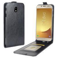Flipové PU kožené puzdro na Samsung Galaxy J7 (2017) - čierne