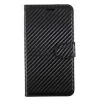 Carbo PU kožené puzdro na mobil Samsung Galaxy J7 (2017) - čierny