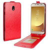 Flipové PU kožené puzdro na Samsung Galaxy J7 (2017) - červené