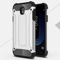 Armory odolný obal na mobil Samsung Galaxy J7 (2017) - strieborný