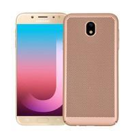 Rubbi elegant plastový obal na Samsung Galaxy J7 (2017) - zlatý