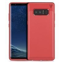 Leathy odolný obal s texturovaným chrbtom na Samsung Galaxy Note 8 - červený