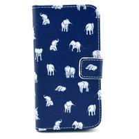 Peňaženkové puzdro pre Samsung Galaxy S4 - slony pro šťastie