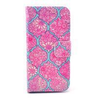 Peňaženkové puzdro pre Samsung Galaxy S4 mini - kvetinová koláž